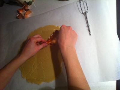Tallant les galetes de nadal